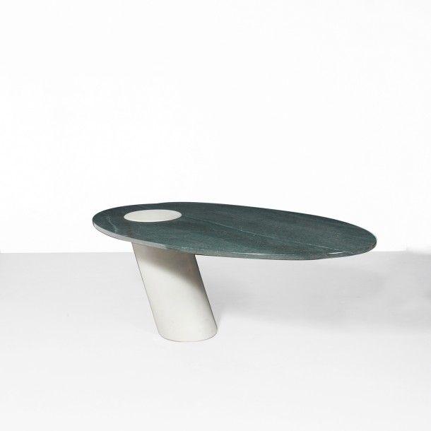 ANGELO MANGIAROTTI (1921-2012) Italie Table de salle a manger modele