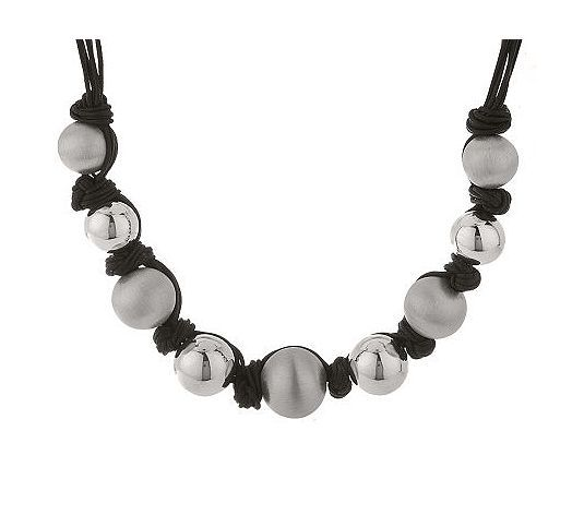 Arte d'Argento Sterling Bead Knotted Cord Necklace-i got it at full price, on sale now
