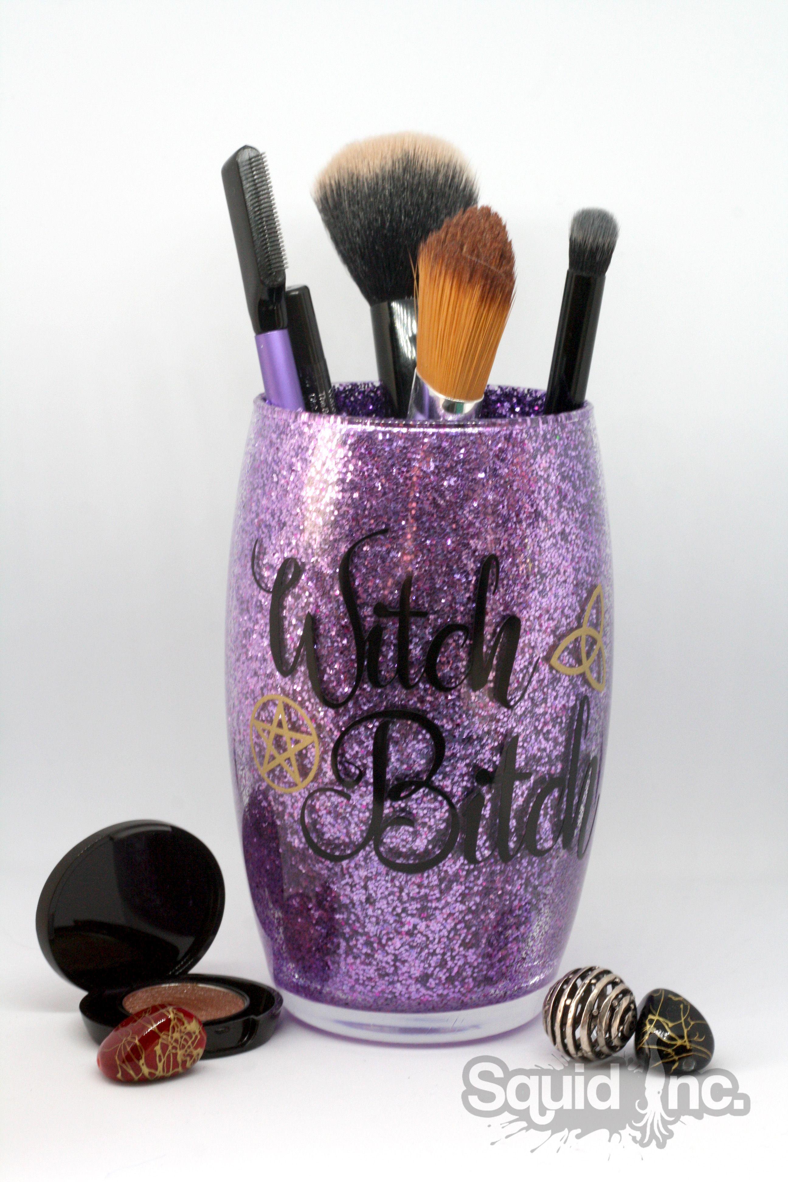 Glitter makeup brush/paint brush/pens/pencil holders funny