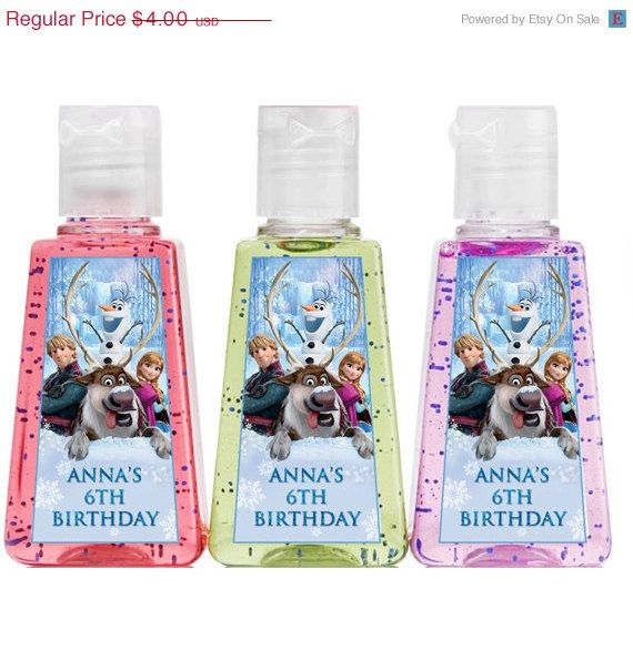On Sale 25 Off Personalized Frozen 1 Oz Hand Sanitizer Party