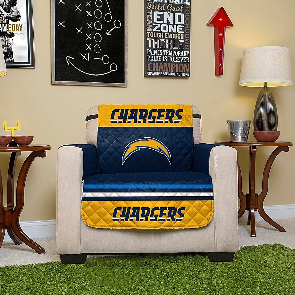Nfl Los Angeles Chargers Chair Cover Bed Bath Beyond Chair Cover Chair Minnesota Vikings