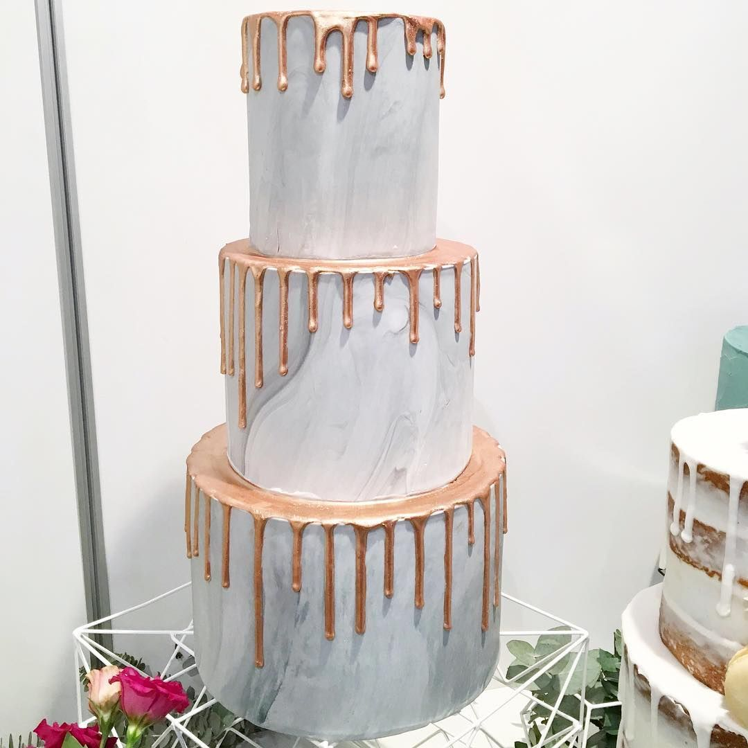Marble cake with copper drip | African and African American Wedding ...
