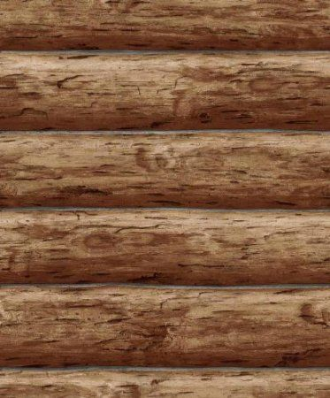 Amazon Com Wallpaper Designer Rustic Log Cabin Brown Wood Log Wall Home Kitchen Rustic Wallpaper Log Wallpaper Wood Wallpaper