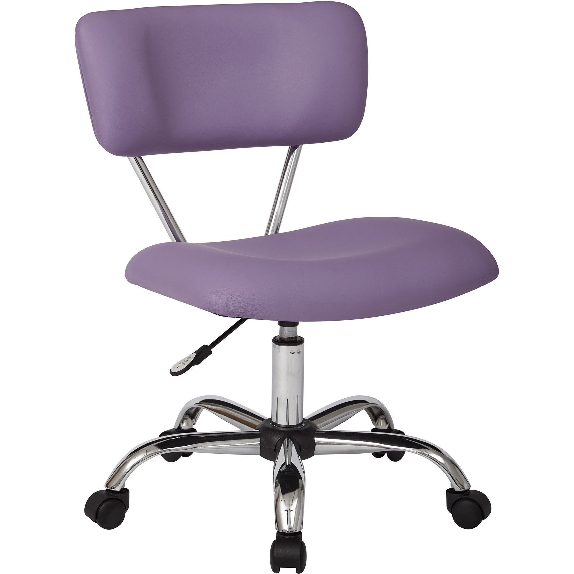 Vista Office Task Chair Purple Faux Leather