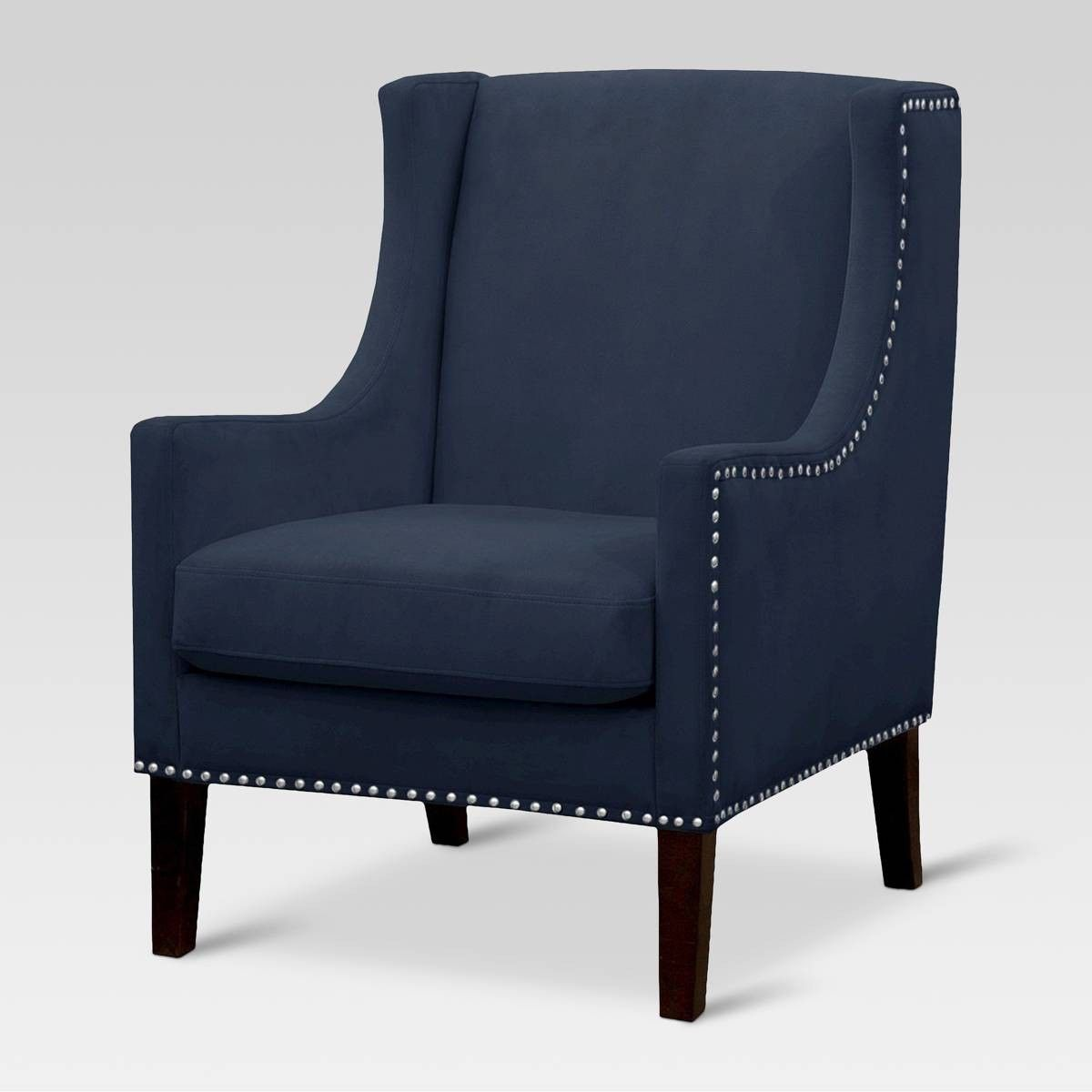 Accent chair from target blue accent chairs wingback
