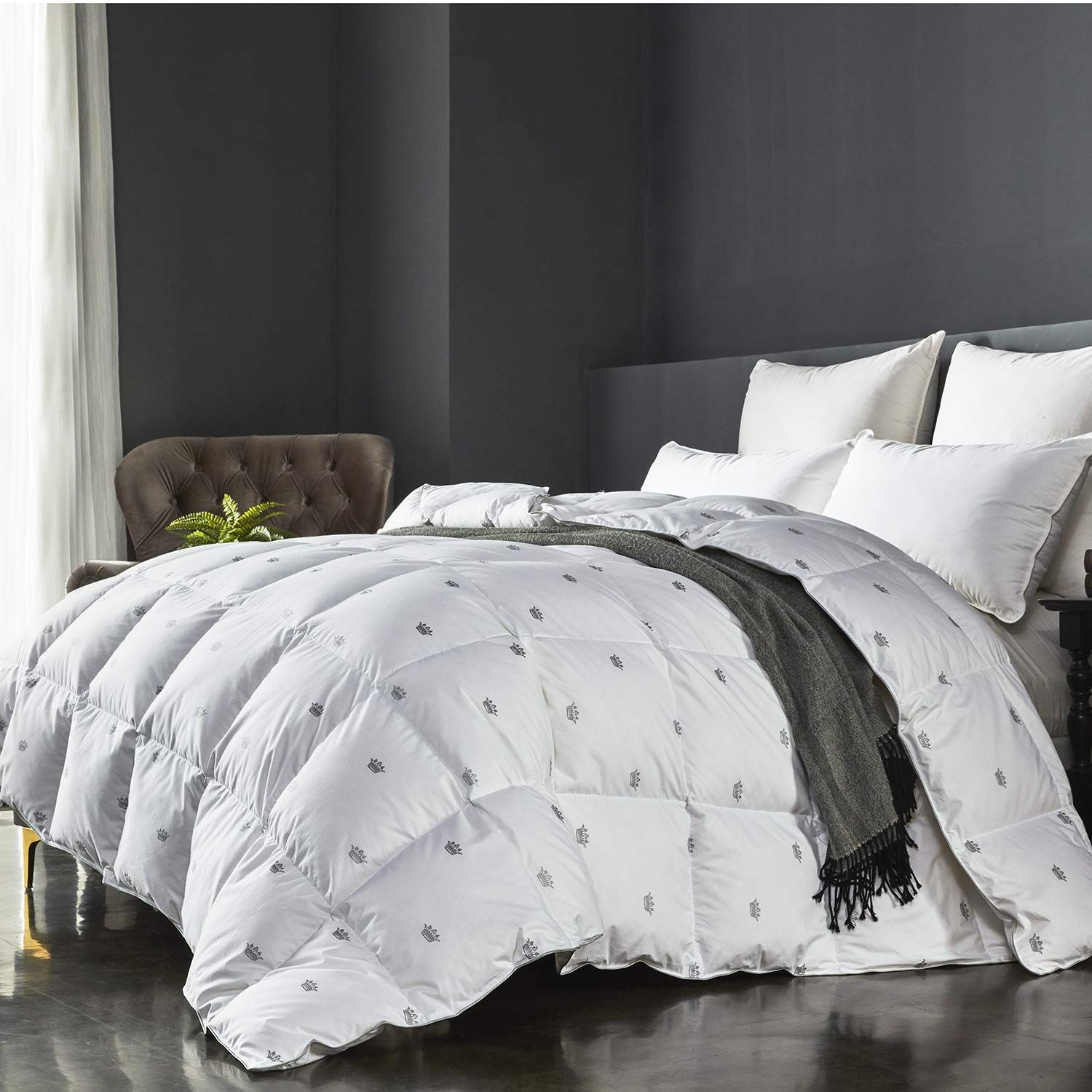Sheone Winter Luxurious Goose Down Comforter King Size Duvet