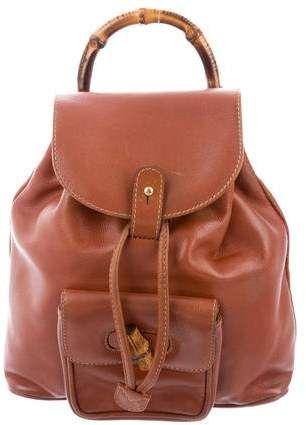 75bd67690341 Gucci Vintage Mini Bamboo Backpack