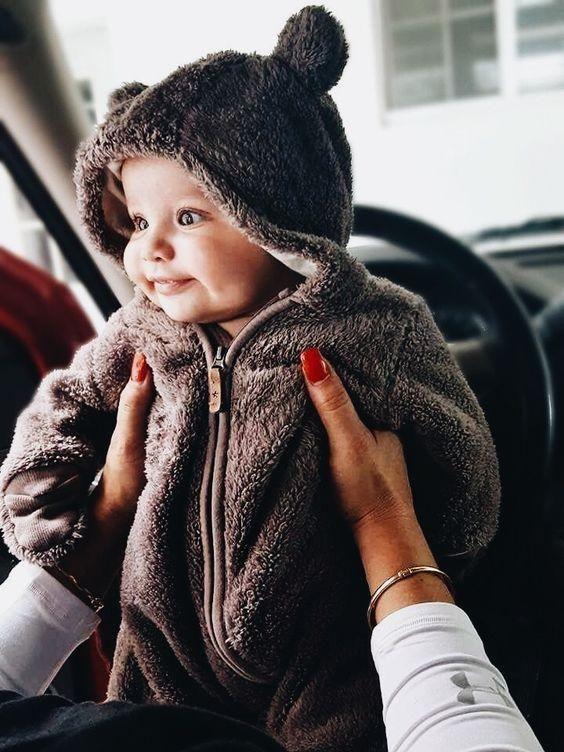 Pudcoco Cute Hot Style Neugeborenes Mädchen Junge Fuzzy Kleidung Mit Kapuze Fuß – Kinder …