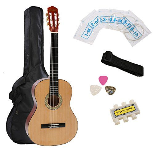 IMusic 39 Inch Full Size Matte Natural Student Beginner Classical Guitar With Gig BagPlastic TunerStrapPickExtra String *** To view further for this item, visit the image link.Note:It is affiliate link to Amazon.