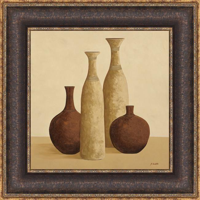 Emmanuel Cometa 'Simplistic II' Framed Print Art, Brown