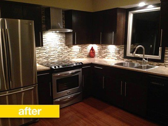 Kitchen Before & After: A 1970s Kitchen Goes Contemporary For Under on 1970s modern dresser, 1970s mushroom wall decor, 1970s paint, 1970s kitchen stove, 1970s bathroom makeover, 1970s basement, 1970s kitchen table, with a peninsula kitchens remodel, 1970s kitchen before and after, 1970s bathroom countertop, 1970s garage doors, 1970s kitchen decor, 1970s kitchen design, 1970s ugly laminate wood buffet, 1970s kitchen update, 1970 bathroom remodel, 1970 home remodel, 1970s tri-level house plans, 1970s retro dresser, 1970s kitchen appliances,