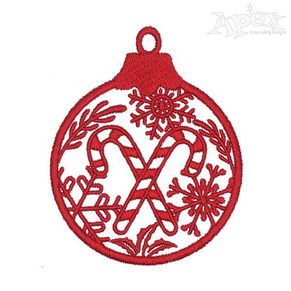 Christmas Ornament Embroidery Design Monogram Machine