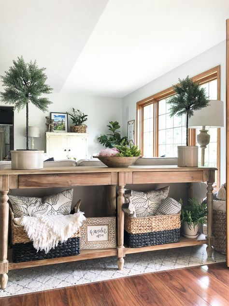 Photo of How to Create a Welcoming Summer Entryway | Sofa table decor…