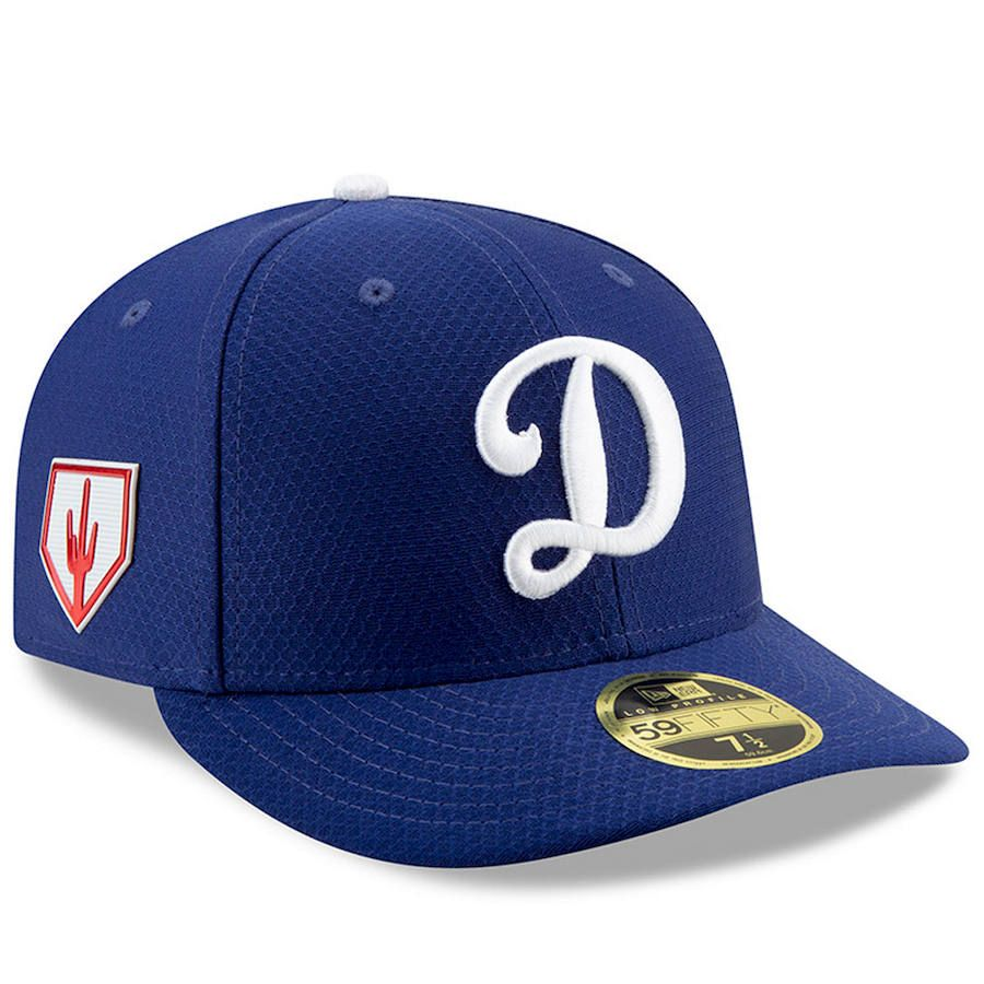 298ff36198906 Men s Los Angeles Dodgers New Era Blue 2019 Spring Training Low Profile  59FIFTY Fitted Hat