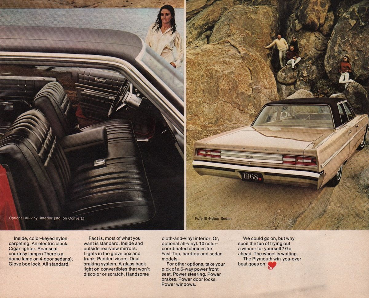 Chrysler 1968 Plymouth Sales Brochure Plymouth Chrysler Sales Brochures