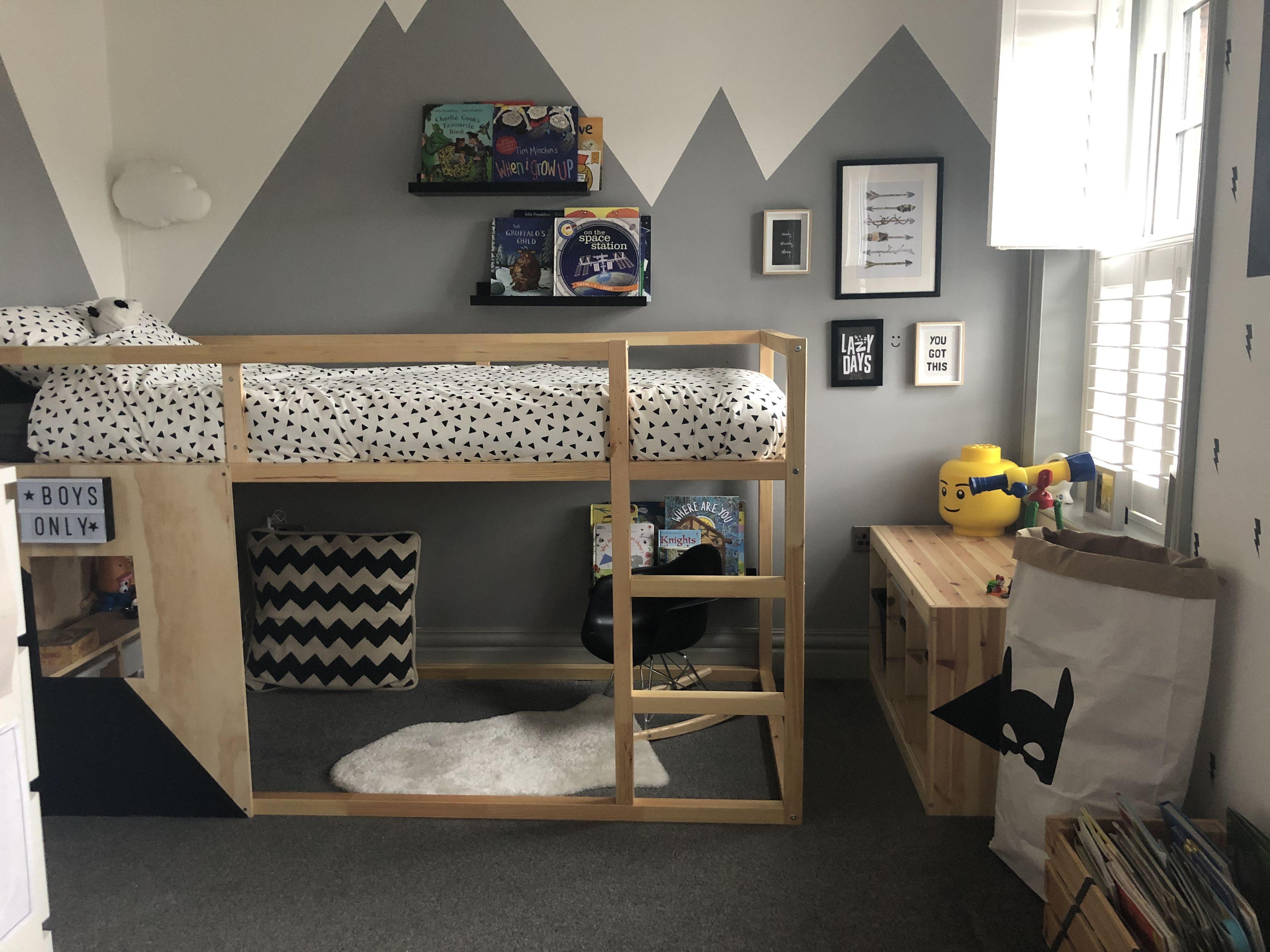 Ikea Kura Bed Monochrome Ikea Kura Bed Toddler Boy Room Decor Kura Bed