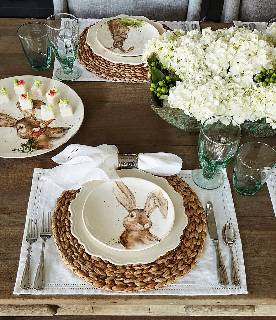Shop for Southern Living Easter Tuft Bunny Salad Plates
