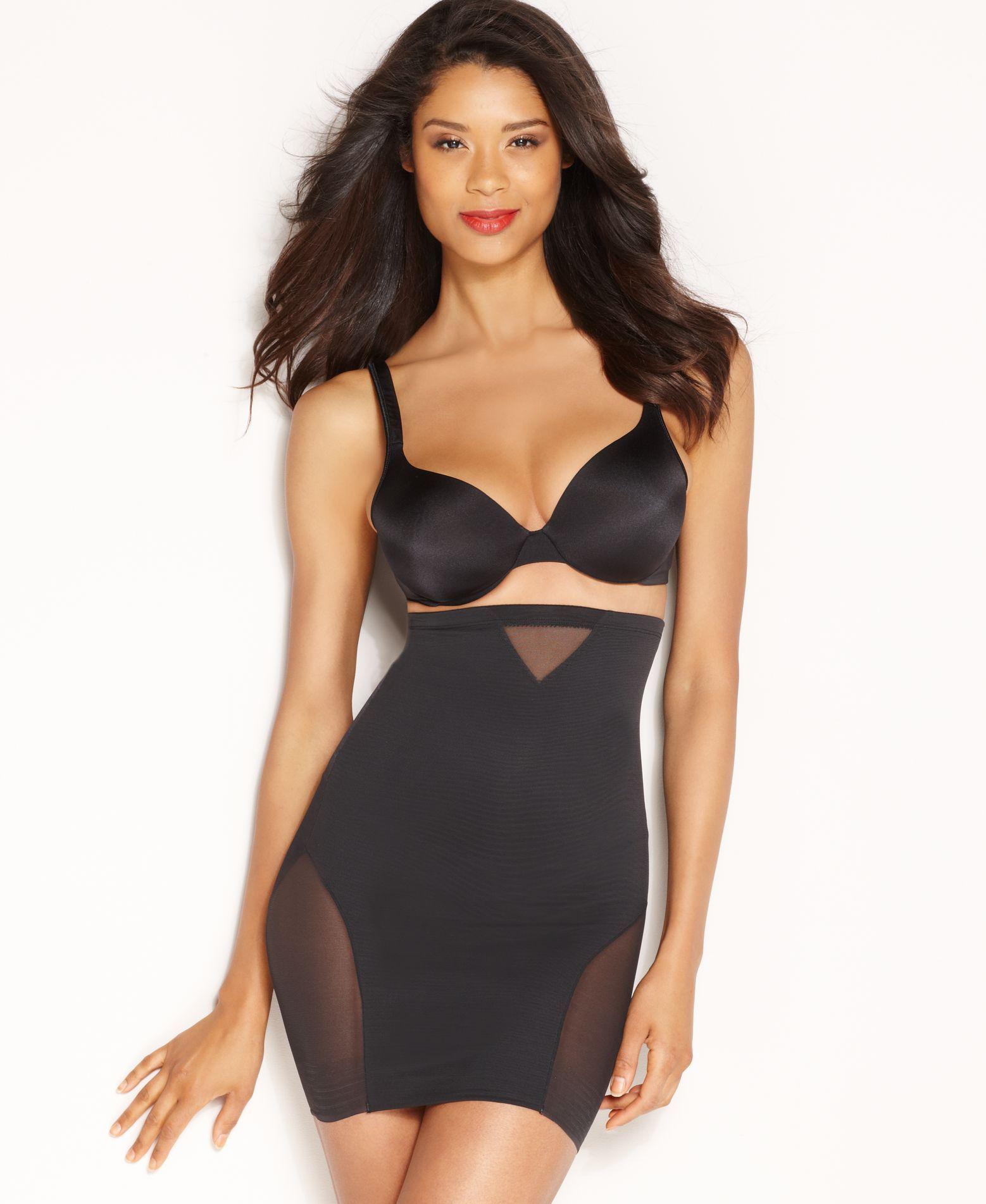 64ab5352bf227 Women s Extra Firm Tummy-Control High Waist Sheer Half Slip 2784 in ...