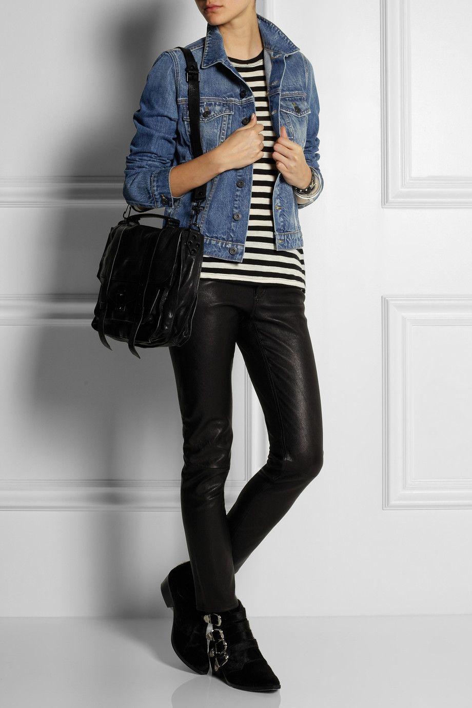 Proenza Schoulerjean jacket looks great with skinny jeans