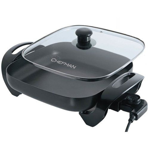 Electric Skillet Chefman Family Sized 12 Inch Electric Skillet