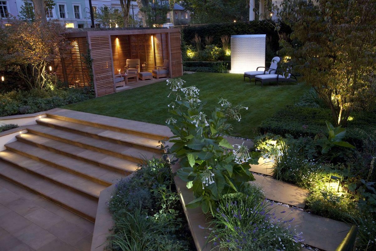 Lighting Basement Washroom Stairs: John-Cullen-garden-exterior-outdoor-lighting