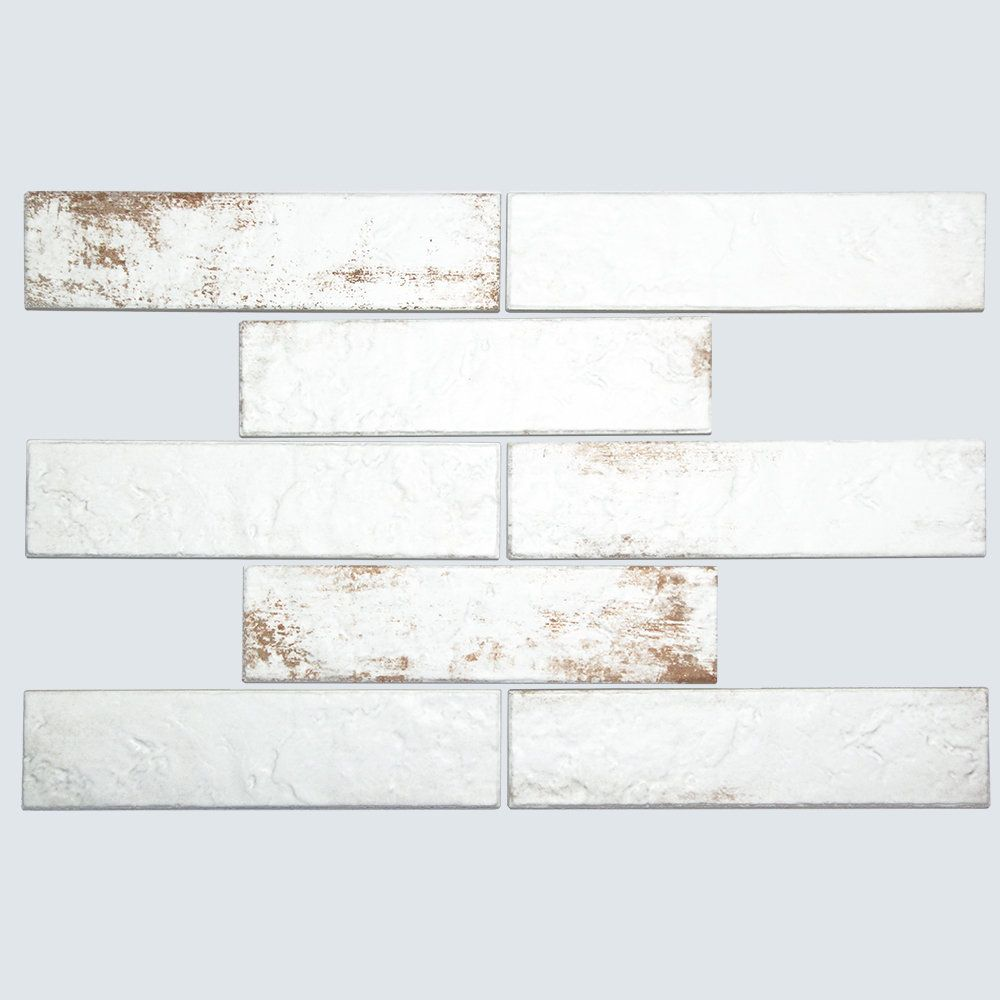 Shop Broadway Brick White 3x6 Porcelain Subway Tile Create An Old