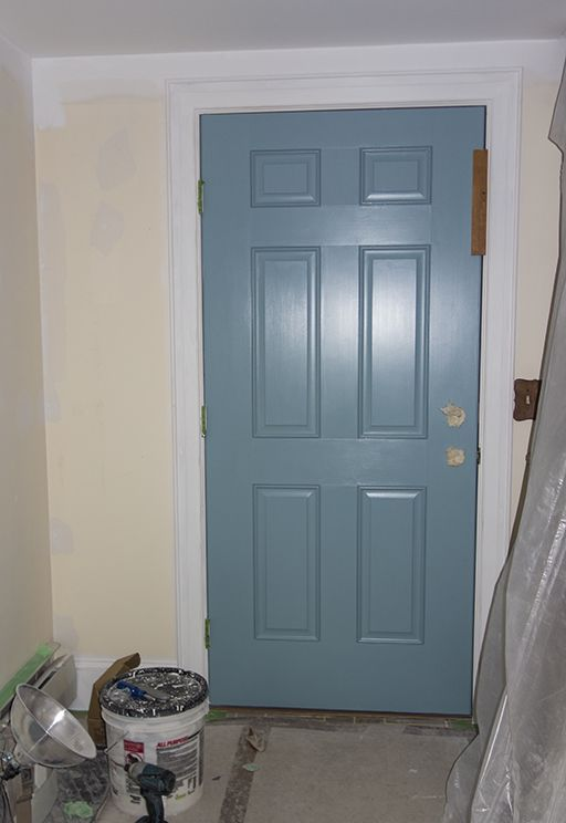 I painted our front door benjamin moore stratton blue. love it ...
