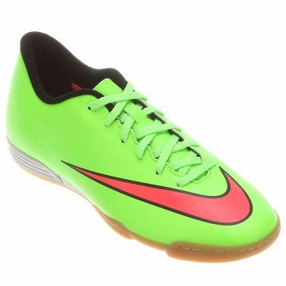 Chuteira Nike Mercurial Vortex 2 IC - Verde Limão+Preto  e01281daa90bb