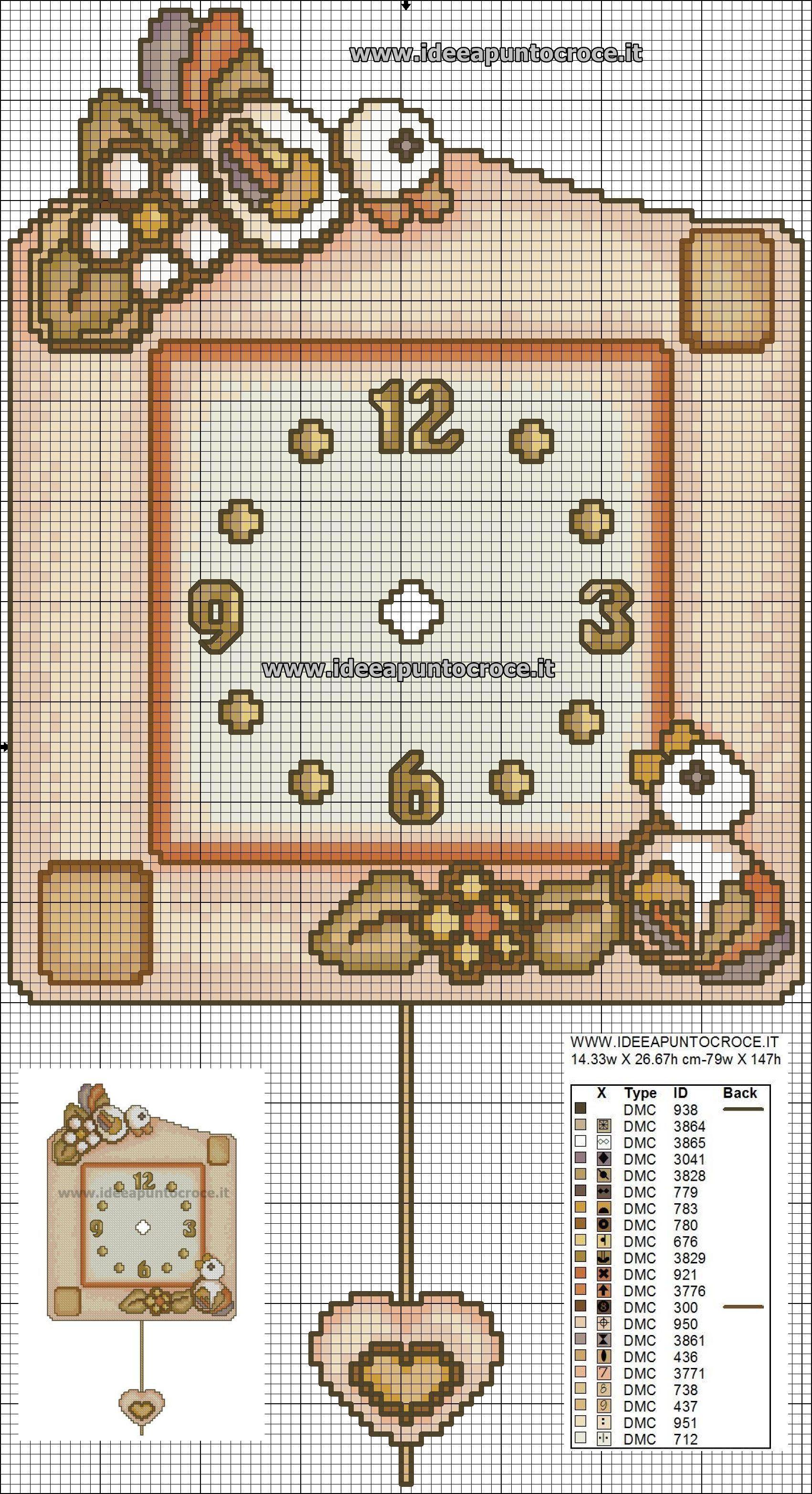 Calendario Avvento Thun.Colori Orologio Thun Cross Stitch Time Ricamo Punto
