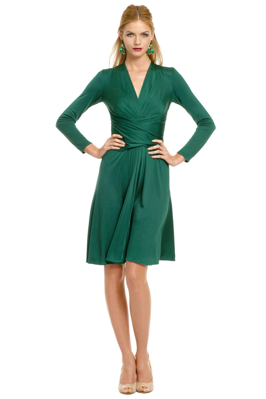 e91b0b440d22 ISSA-- Green Royal Wrap Dress The same one that Kate wore for their  engagement photos, but in green!
