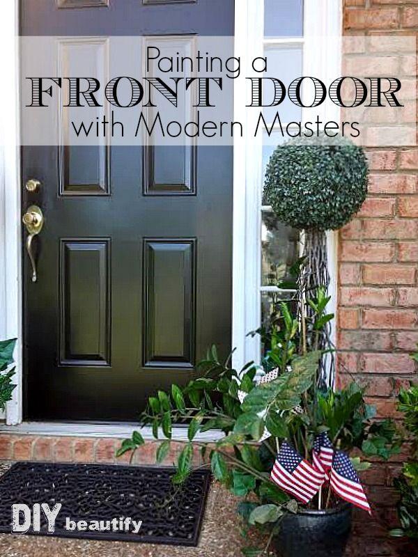 Front Door Makeover With New Paint Front Door Front Door Makeover Painted Front Doors