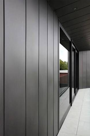 James Hardie Axon Cladding Charcoal Grey Black Windows