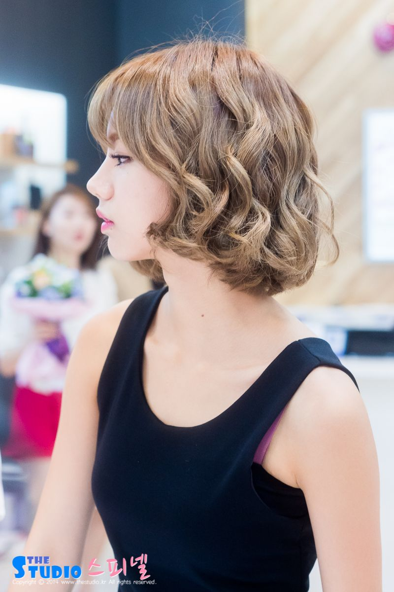 Girl S Day Hyeri Rambut Pendek Korea Gaya Rambut Korea Gaya Rambut Keriting