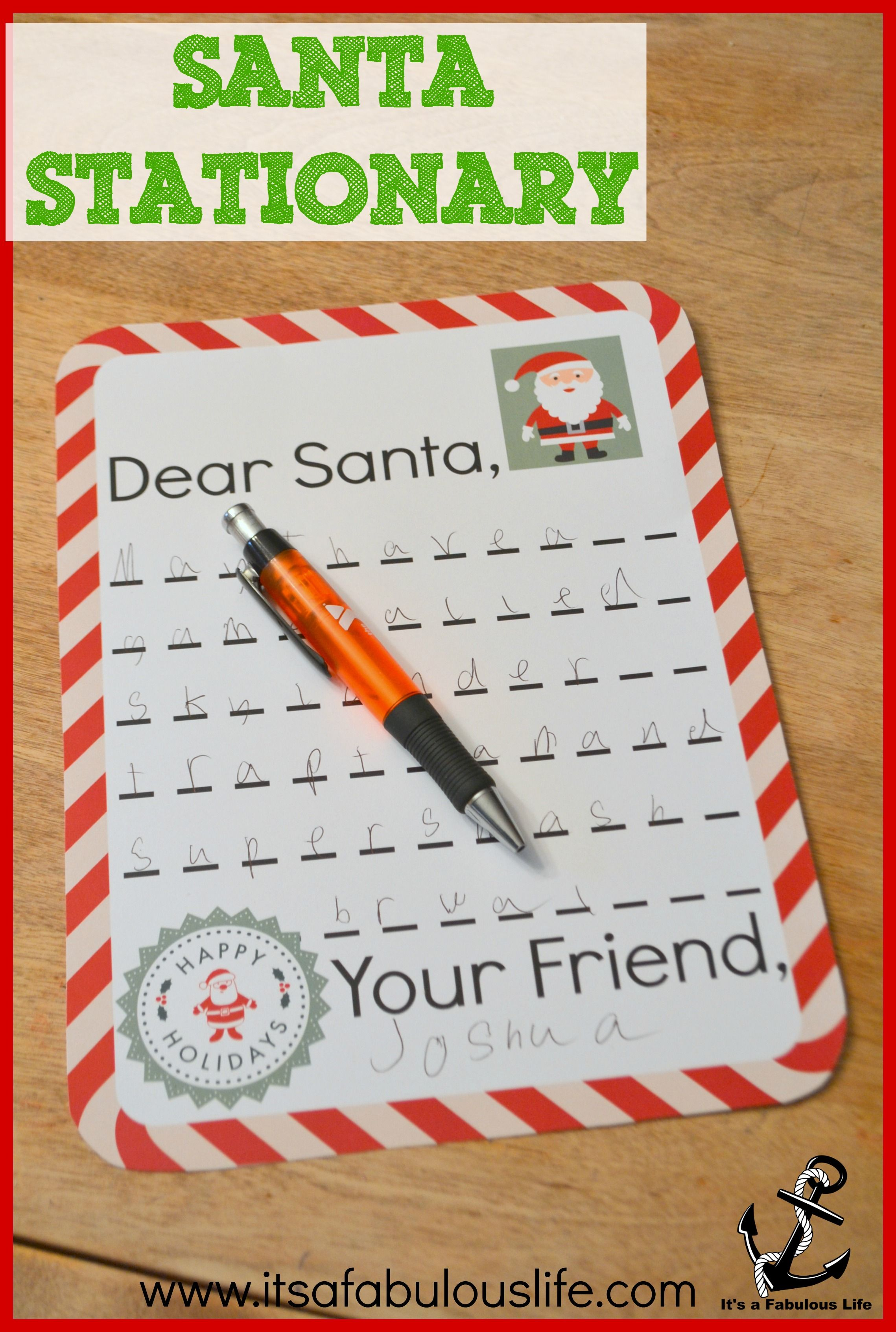 Where To Send Letters To Santa Get A Response It S A Fabulous Life Santa Letter Free Letters From Santa Holiday Lessons