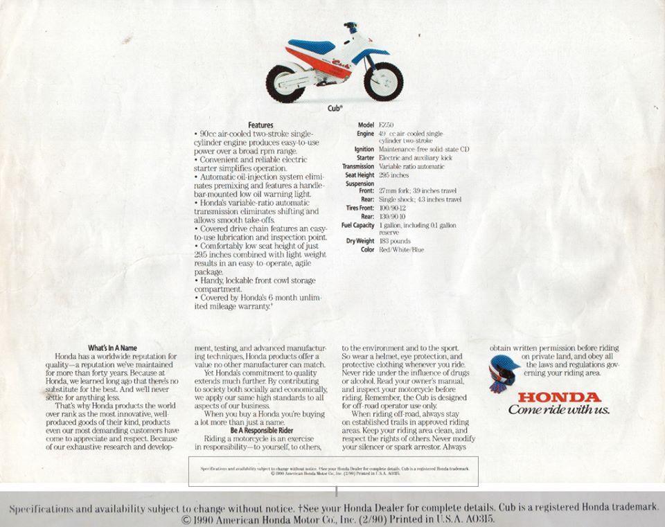 Pin on Honda CUB EZ 90