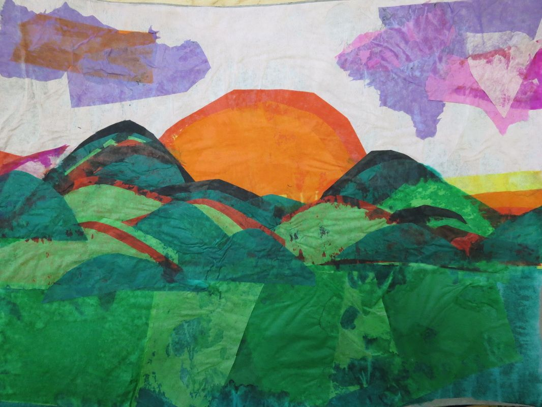 Tissue paper landscape homeschool ideas pinterest for Landscape design paper
