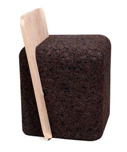o stool toni grillo studio 2013 natural black cork and. Black Bedroom Furniture Sets. Home Design Ideas