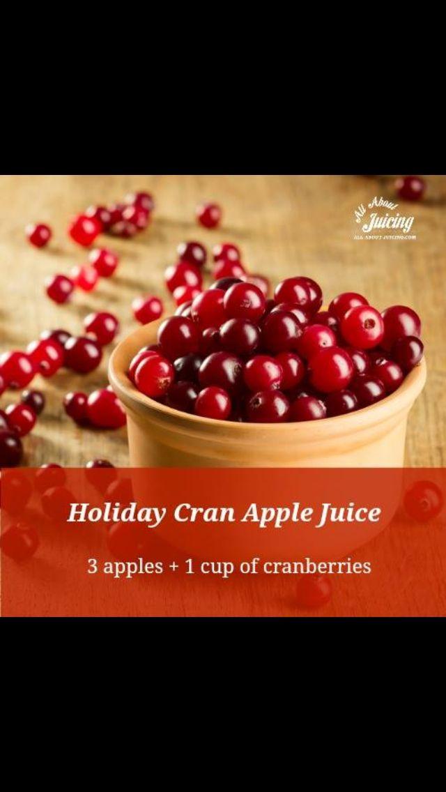 Holiday cran-apple juice