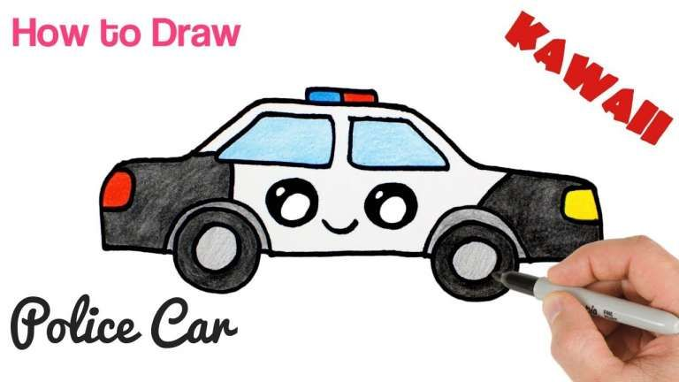 10 Cop Car Cartoon Drawing Cartoon Drawing In 2020 With Images