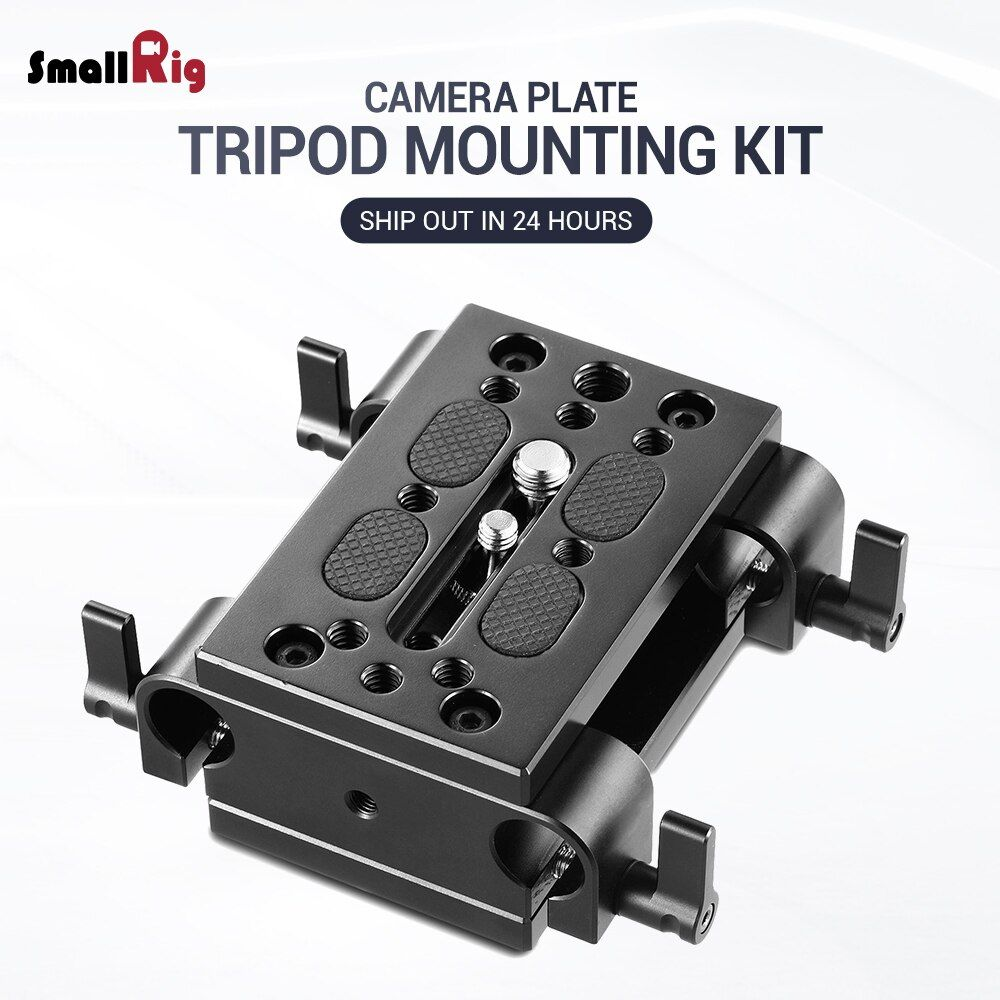 Smallrig Camera Mounting Plate Tripod Monopod Mounting Plate With 15mm Rod Clamp Railblock For Rod Monopod Smallrig Best Camera