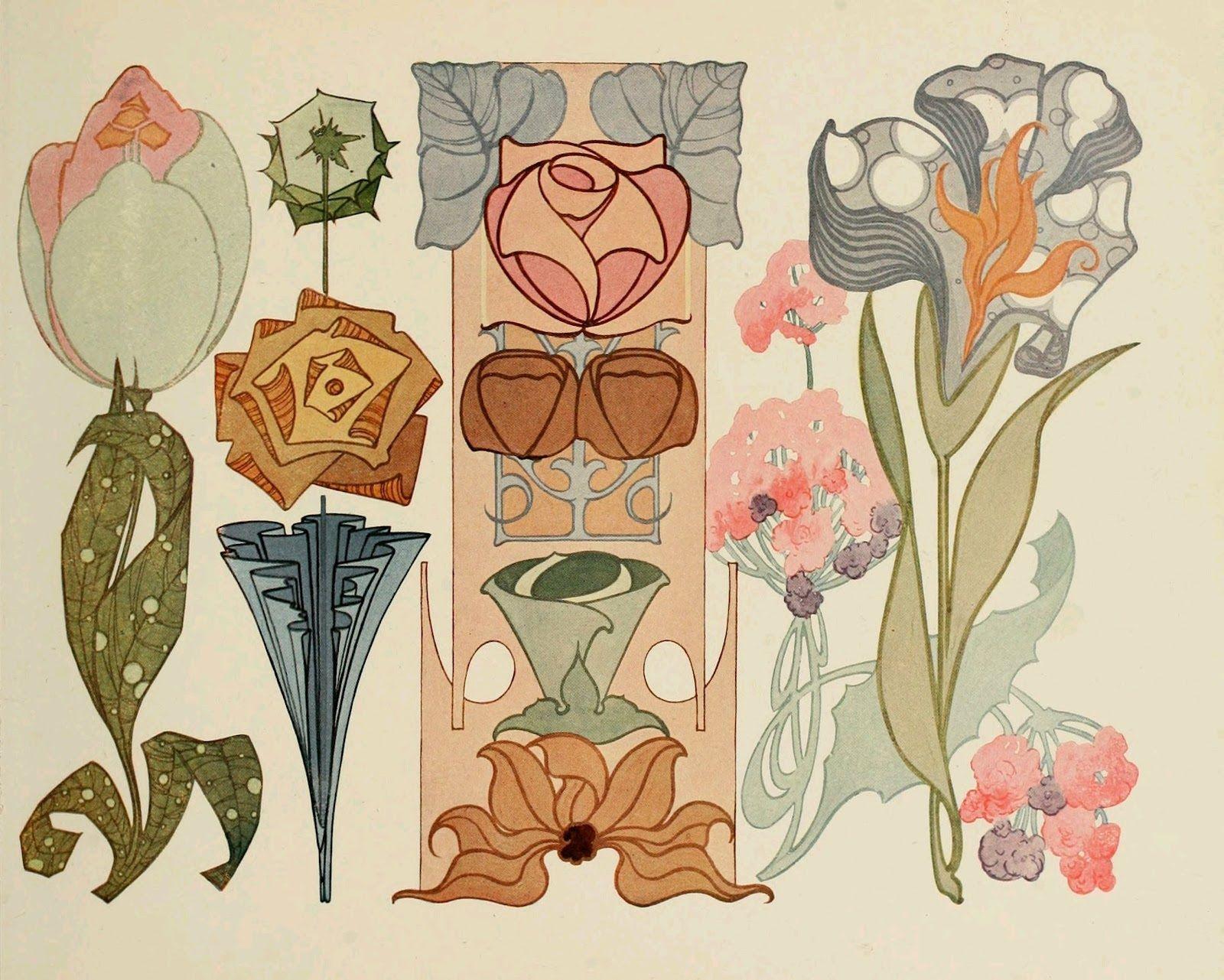 Art nouveau flowers @ http://3.bp.blogspot.com/-PmXJpaIBsIY/T-mBLvidBnI/AAAAAAAAA7g/3pfOVbSYm8Y/s1600/Image4.jpg