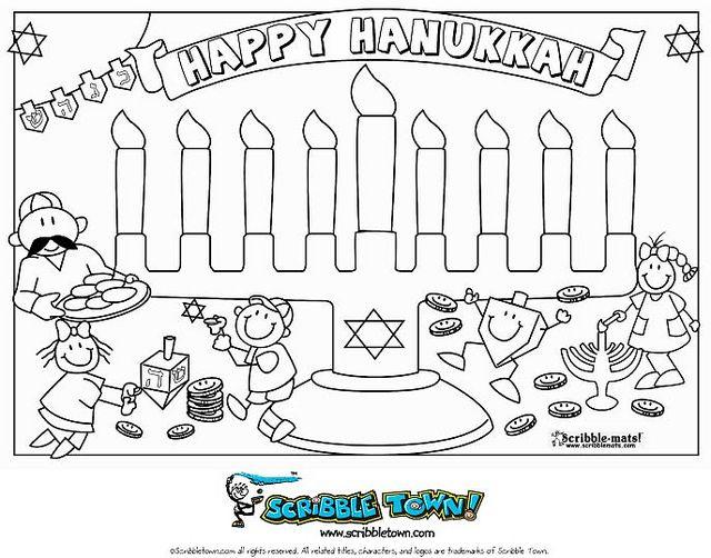 Hanukkah Coloring Page   Hanukkah, Cute coloring pages ...