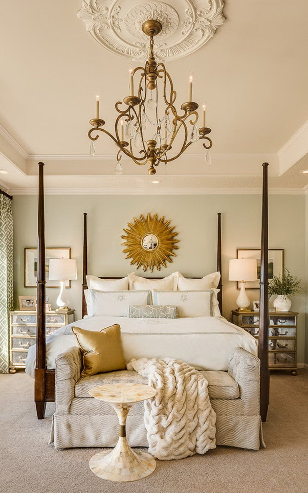 Medallion Bedding Bedroom Traditional With Bedroom Bedroom Chandelier Ceiling Traditional Bedroom Design Traditional Bedroom Traditional Bedroom Decor Traditional bedroom ideas photos