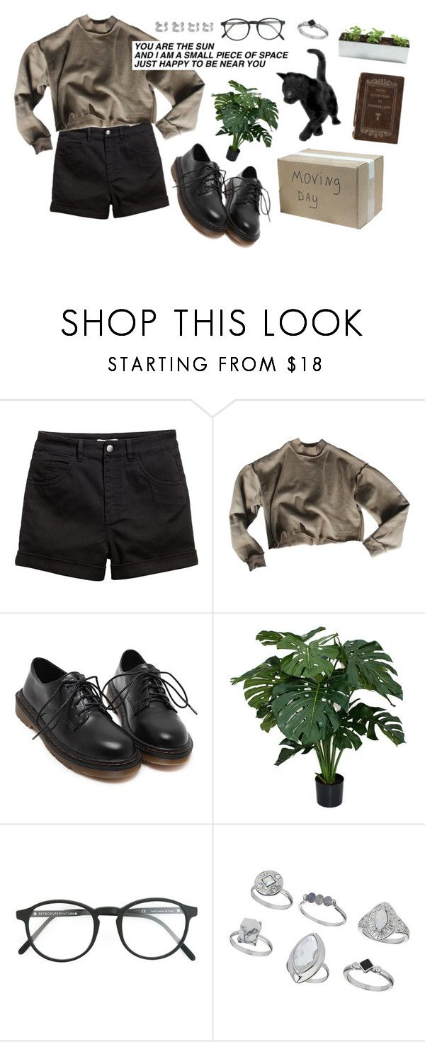 """""""Olive"""" by mxisieaf ❤ liked on Polyvore featuring H&M, RetroSuperFuture, Miss Selfridge and Maison Margiela"""