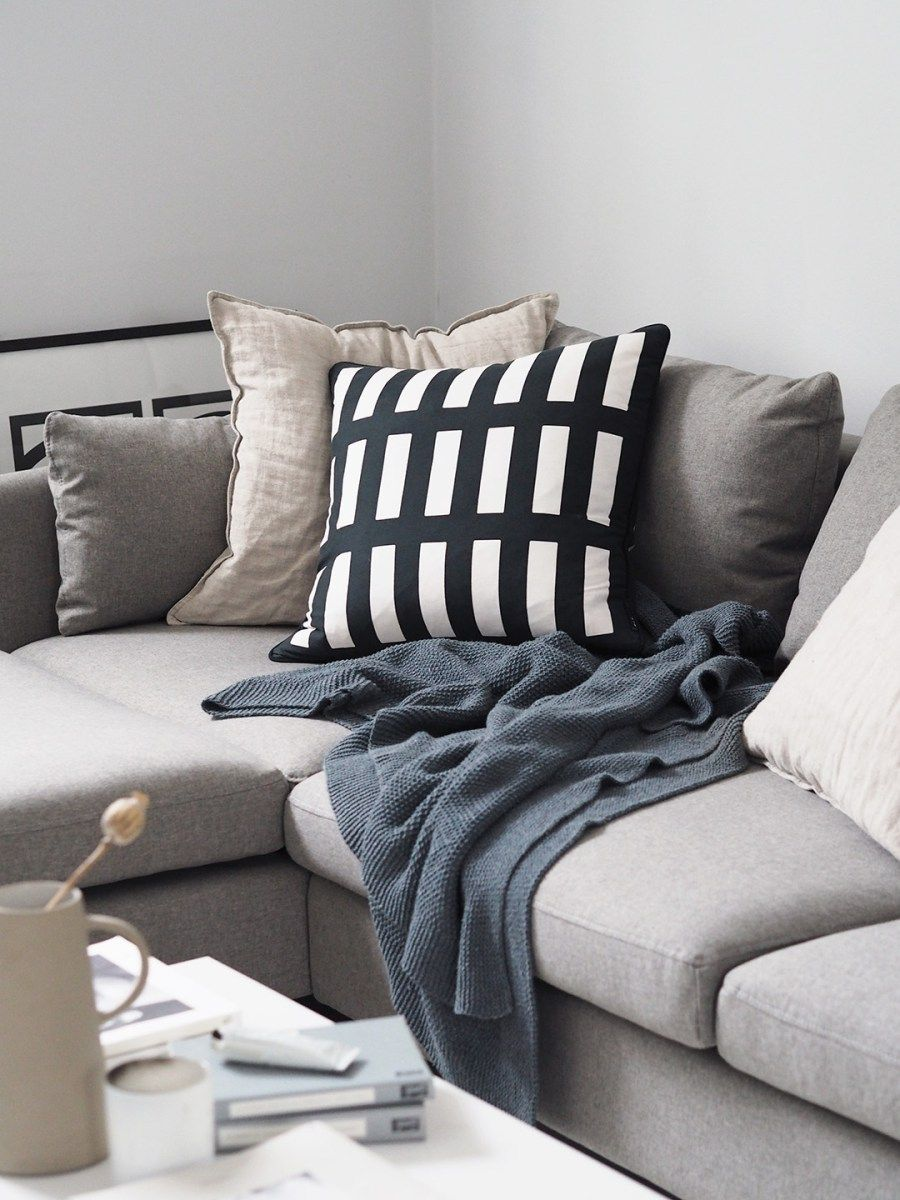 Minimal Grey Living Room   Beige Corner Sofa. Our New Vento Grey Corner Sofa  From
