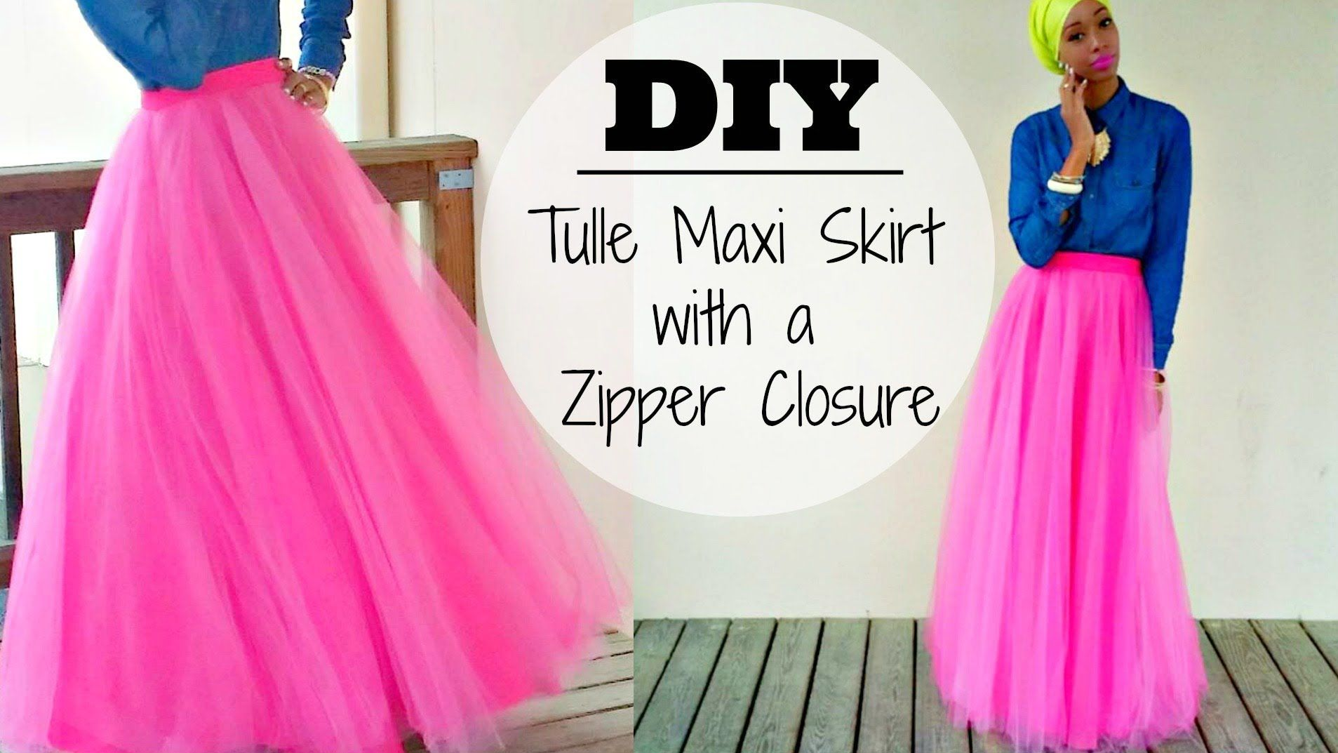 DIY | Tulle Maxi Skirt | With a Zipper AWESOME IDEA FOR DIY EID ...