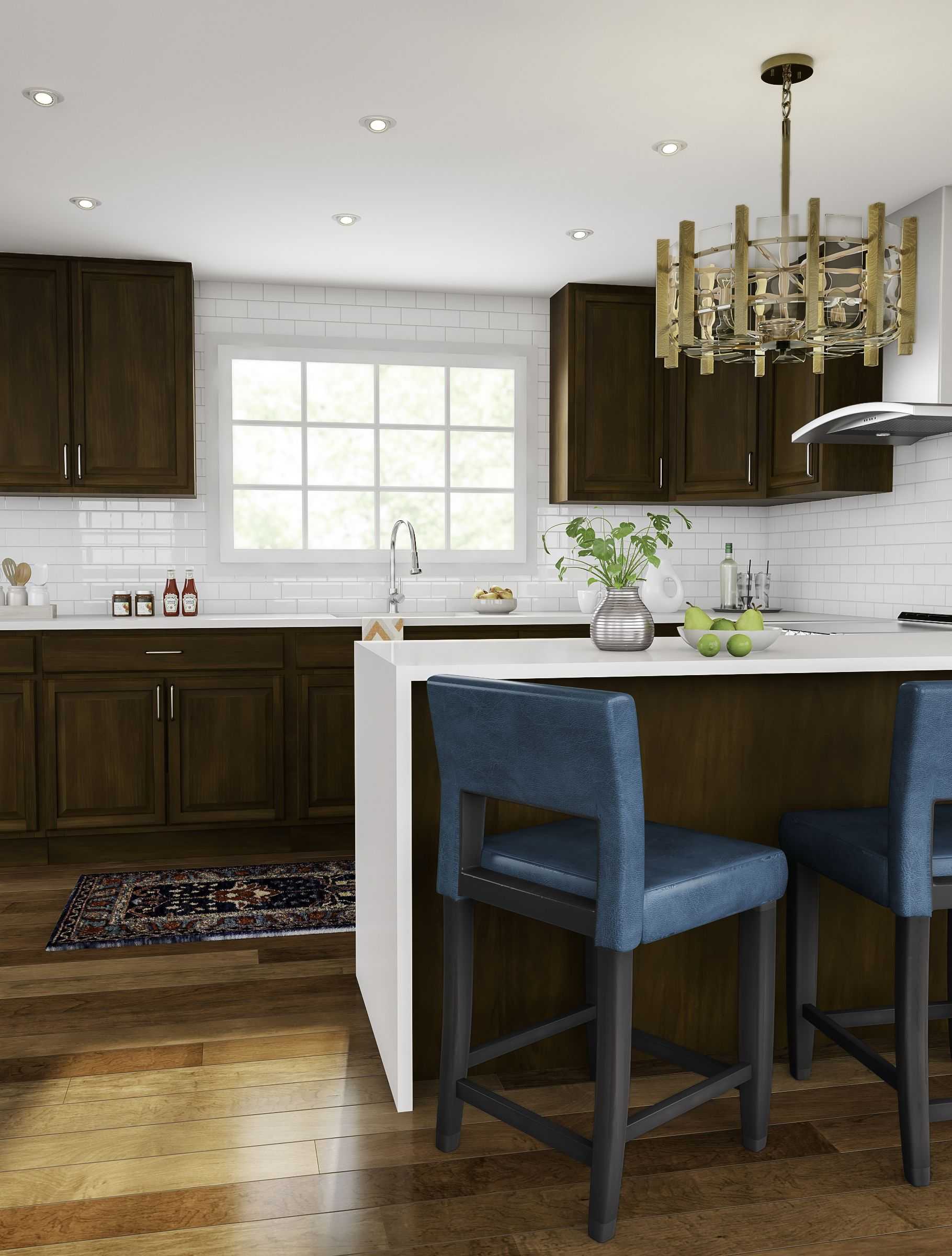 A Pop Of Color Does Wonders In Your Kitchen Upgrade Yours With Lots Of Rich Dark Wood Fo Interior Design Kitchen Kitchen Design Decor Kitchen Cabinet Remodel