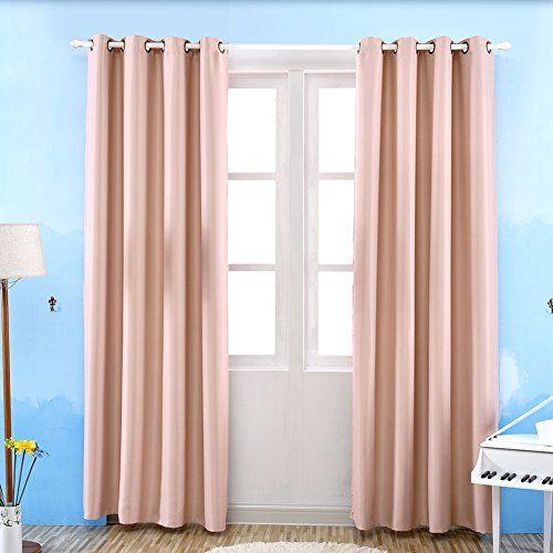 Sala de estar dormitorio color sólido cortinas opacas ros https