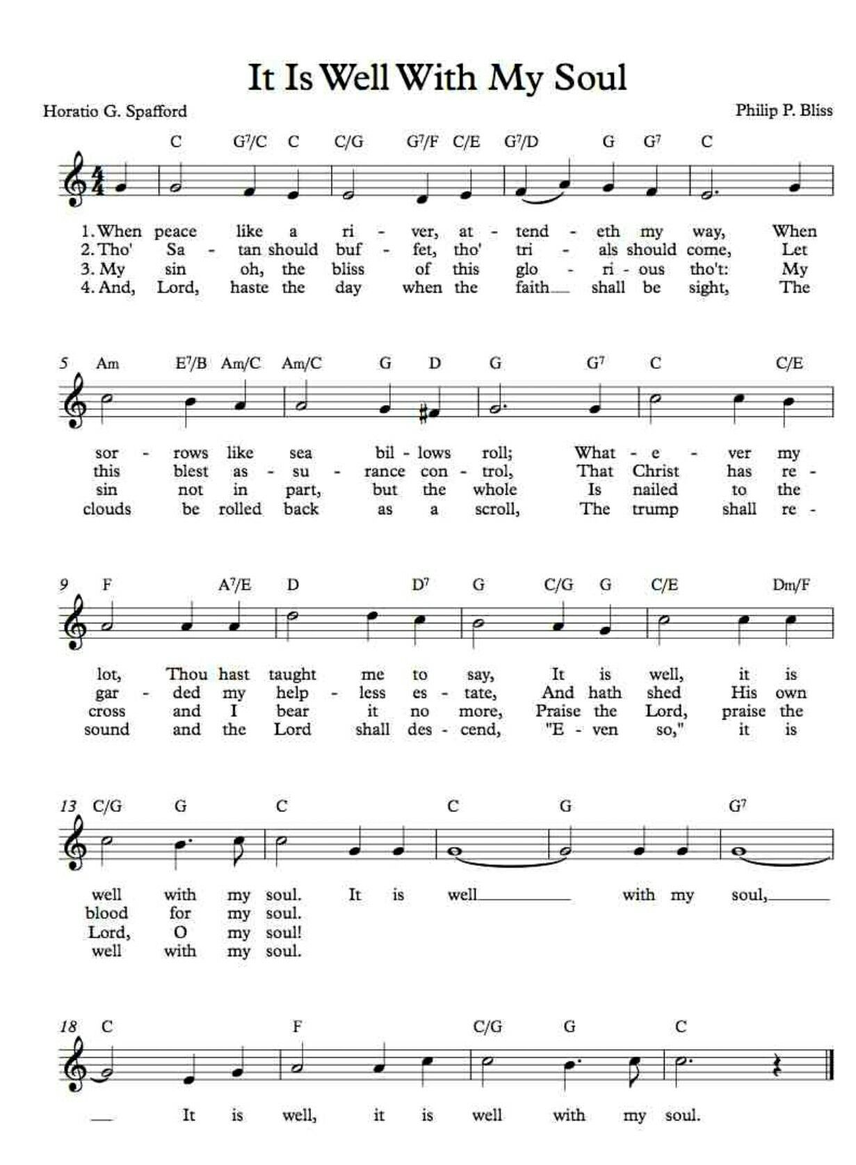 Pin by Cindy Bell on Piano sheet music, Hymn