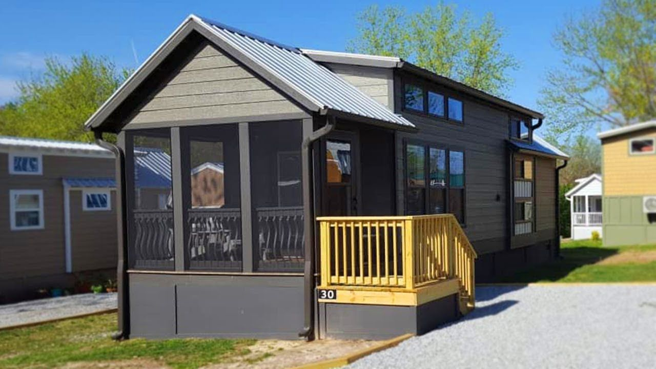 Gorgeous Rustic Alexander Tiny House For Sale By Clayton Homes Backyard Cottage Tiny Houses For Sale Clayton Homes